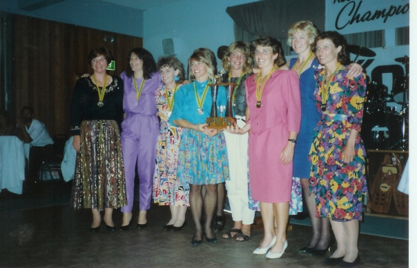 1990-91 Hobart, NSW Women's Team - Winners!